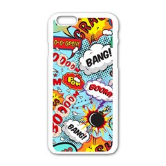 Comic Pattern Apple Iphone 6/6s White Enamel Case