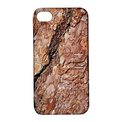 Tree Bark C Apple Iphone 4/4s Hardshell Case With Stand