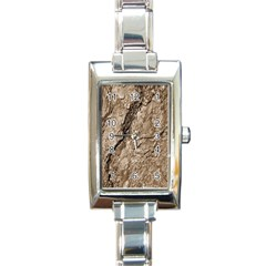 Tree Bark B Rectangle Italian Charm Watch