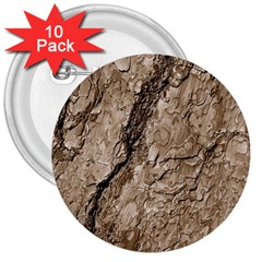 Tree Bark B 3  Buttons (10 Pack)