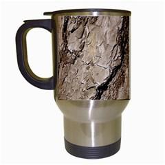 Tree Bark B Travel Mugs (white)