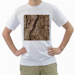 Tree Bark B Men s T Shirt (white)