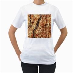 Tree Bark D Women s T Shirt (white) (two Sided)