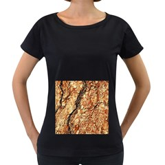 Tree Bark D Women s Loose Fit T Shirt (black)