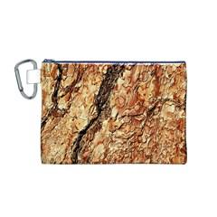 Tree Bark D Canvas Cosmetic Bag (m)