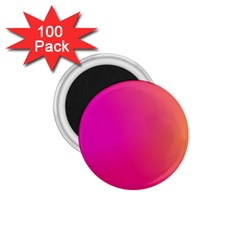 Pink Orange Yellow Ombre  1 75  Magnets (100 Pack)