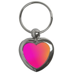 Pink Orange Yellow Ombre  Key Chains (heart)