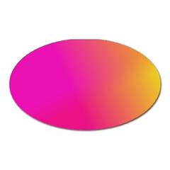 Pink Orange Yellow Ombre  Oval Magnet