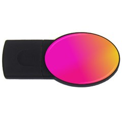 Pink Orange Yellow Ombre  Usb Flash Drive Oval (2 Gb)