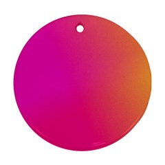 Pink Orange Yellow Ombre  Round Ornament (two Sides)