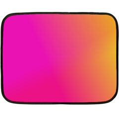 Pink Orange Yellow Ombre  Fleece Blanket (mini)
