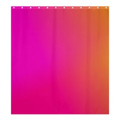 Pink Orange Yellow Ombre  Shower Curtain 66  X 72  (large)