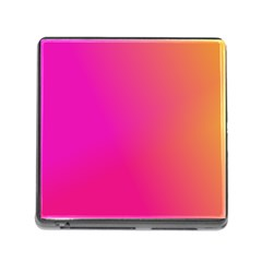 Pink Orange Yellow Ombre  Memory Card Reader (square)