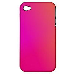 Pink Orange Yellow Ombre  Apple Iphone 4/4s Hardshell Case (pc+silicone)