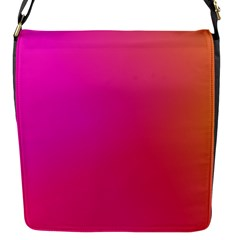 Pink Orange Yellow Ombre  Flap Messenger Bag (s)