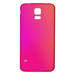 Pink Orange Yellow Ombre  Samsung Galaxy S5 Back Case (white)
