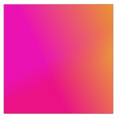 Pink Orange Yellow Ombre  Large Satin Scarf (square)
