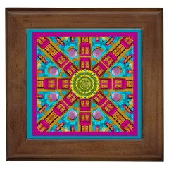 Sunny And Bohemian Sun Shines In Colors Framed Tiles