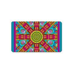 Sunny And Bohemian Sun Shines In Colors Magnet (name Card)