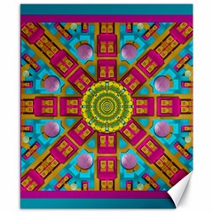 Sunny And Bohemian Sun Shines In Colors Canvas 8  X 10