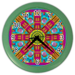 Sunny And Bohemian Sun Shines In Colors Color Wall Clocks