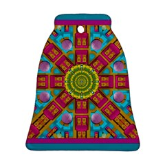 Sunny And Bohemian Sun Shines In Colors Bell Ornament (two Sides)