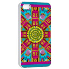 Sunny And Bohemian Sun Shines In Colors Apple Iphone 4/4s Seamless Case (white)