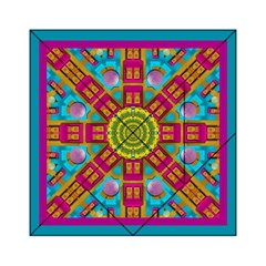 Sunny And Bohemian Sun Shines In Colors Acrylic Tangram Puzzle (6  X 6 )