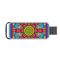 Sunny And Bohemian Sun Shines In Colors Portable Usb Flash (one Side)