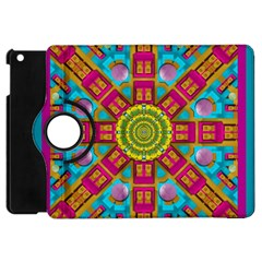 Sunny And Bohemian Sun Shines In Colors Apple Ipad Mini Flip 360 Case