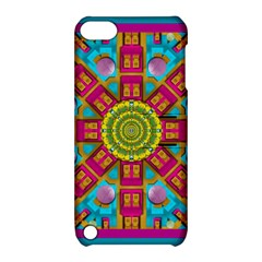 Sunny And Bohemian Sun Shines In Colors Apple Ipod Touch 5 Hardshell Case With Stand