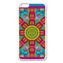 Sunny And Bohemian Sun Shines In Colors Apple Iphone 6 Plus/6s Plus Enamel White Case