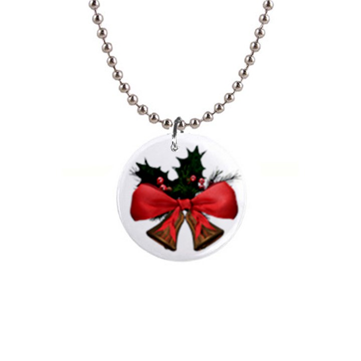 Christmas bells Button Necklace