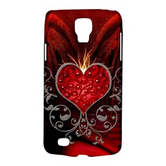Wonderful Heart With Wings, Decorative Floral Elements Galaxy S4 Active