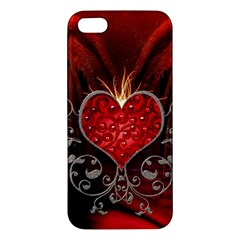 Wonderful Heart With Wings, Decorative Floral Elements Iphone 5s/ Se Premium Hardshell Case