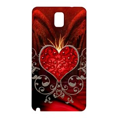 Wonderful Heart With Wings, Decorative Floral Elements Samsung Galaxy Note 3 N9005 Hardshell Back Case