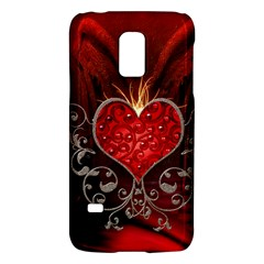 Wonderful Heart With Wings, Decorative Floral Elements Galaxy S5 Mini