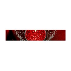 Wonderful Heart With Wings, Decorative Floral Elements Flano Scarf (mini)