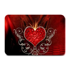 Wonderful Heart With Wings, Decorative Floral Elements Plate Mats