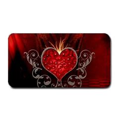 Wonderful Heart With Wings, Decorative Floral Elements Medium Bar Mats