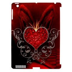 Wonderful Heart With Wings, Decorative Floral Elements Apple Ipad 3/4 Hardshell Case (compatible With Smart Cover)