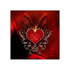 Wonderful Heart With Wings, Decorative Floral Elements Acrylic Tangram Puzzle (4  X 4 )