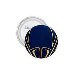 Art Nouveau,vintage,floral,belle ¨|poque,elegant,blue,gold,art Deco,modern,trendy 1 75  Buttons