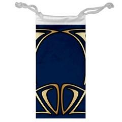 Art Nouveau,vintage,floral,belle ¨|poque,elegant,blue,gold,art Deco,modern,trendy Jewelry Bag