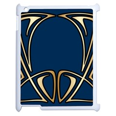 Art Nouveau,vintage,floral,belle ¨|poque,elegant,blue,gold,art Deco,modern,trendy Apple Ipad 2 Case (white)