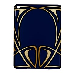 Art Nouveau,vintage,floral,belle ¨|poque,elegant,blue,gold,art Deco,modern,trendy Ipad Air 2 Hardshell Cases