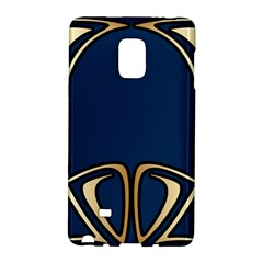 Art Nouveau,vintage,floral,belle ¨|poque,elegant,blue,gold,art Deco,modern,trendy Galaxy Note Edge