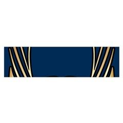 Art Nouveau,vintage,floral,belle ¨|poque,elegant,blue,gold,art Deco,modern,trendy Satin Scarf (oblong)