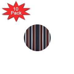 Pear Blossom Teal Orange Brown Coordinating Stripes  1  Mini Buttons (10 Pack)