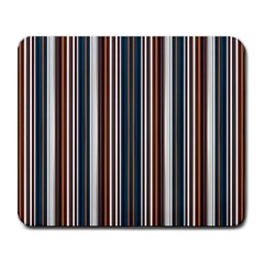 Pear Blossom Teal Orange Brown Coordinating Stripes  Large Mousepads